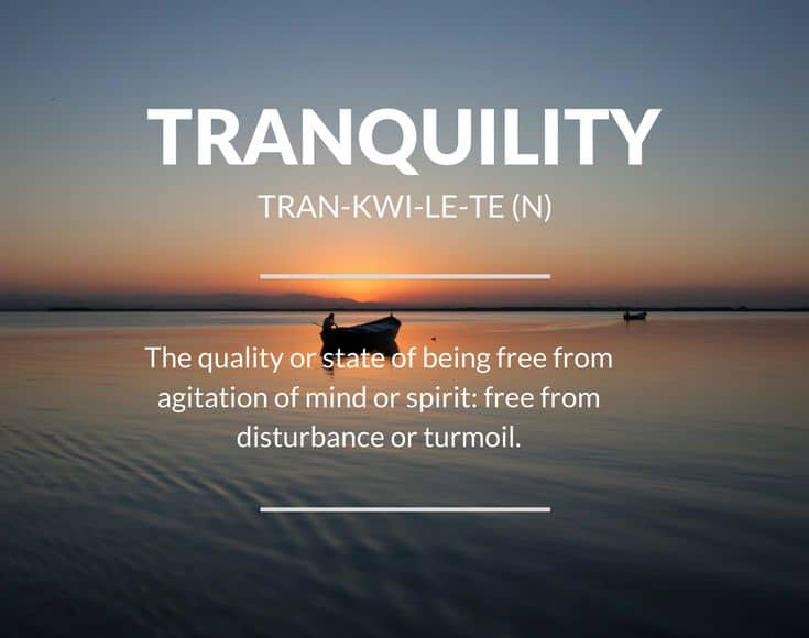tranquility meaning